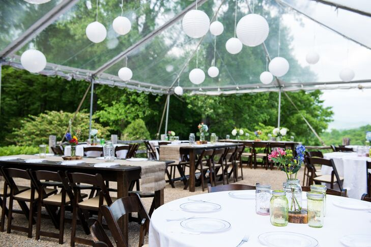 Clear Reception Tent From Mountain Party Rentals