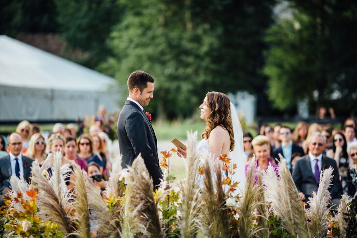 Wildflower and Pampas Grass Ceremony Backdrop
