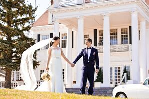 The Manor House Outdoor Wedding Photo