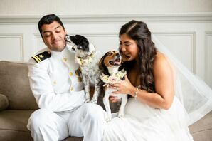 Dog Photographs at Military Wedding at Belle Mer in Newport, Rhode Island