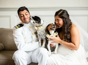 "It was important to Nikki Anderson and Karthik Venkatraman, ""to have the wedding be a representation of who we are as a couple."" As such, they planned"