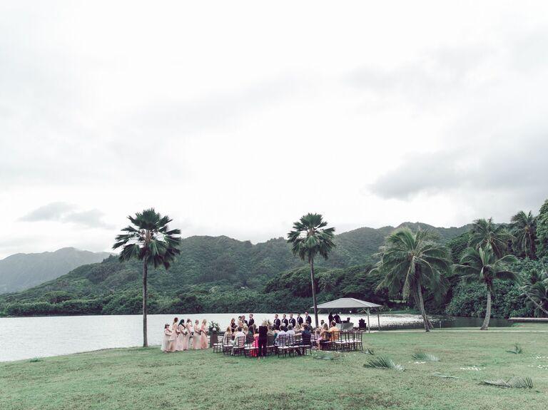 Outdoor Beach Hawaii Wedding