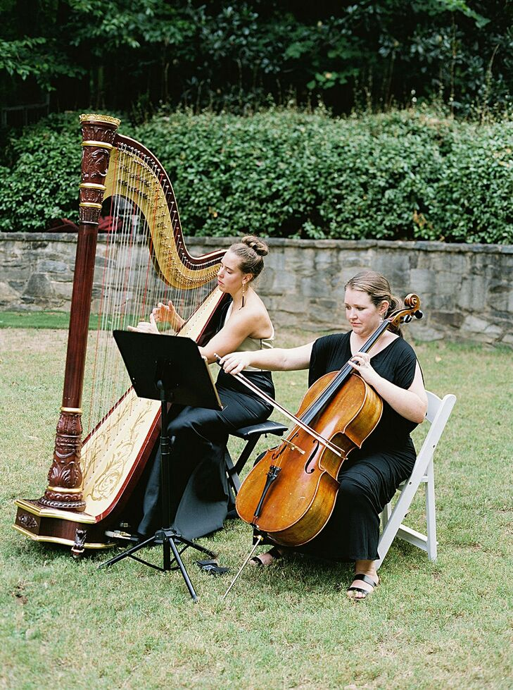 Cello and Harp Players for Wedding Ceremony  at The Swan House in Atlanta, Georgia