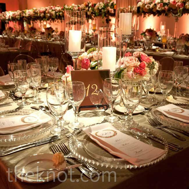 Classic dishware, glassware and table linens helped foster a formal atmosphere.