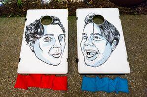 Personalized Caricature Cornhole Boards