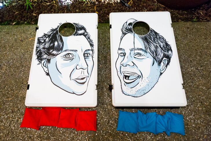 Personalized Caricature Cornhole Boards