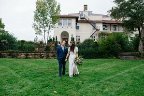 Bride and Groom at Aldworth Manor in Harrisville, New Hampshire