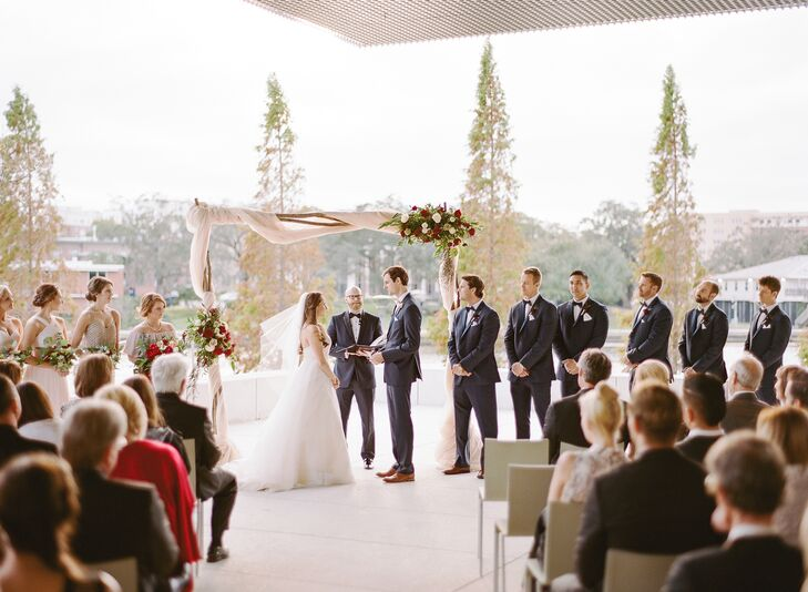 Classic Outdoor Ceremony at the Tampa Museum of Art in Florida