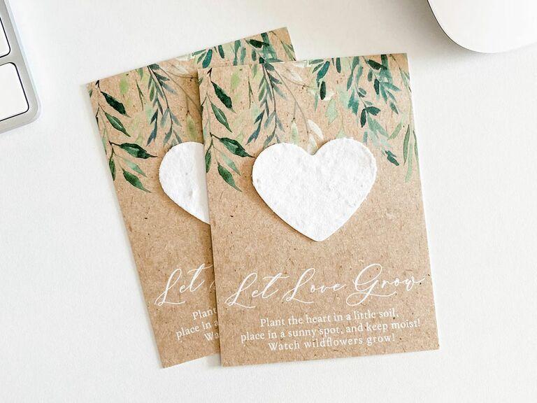 wildflower seed paper rustic wedding favor