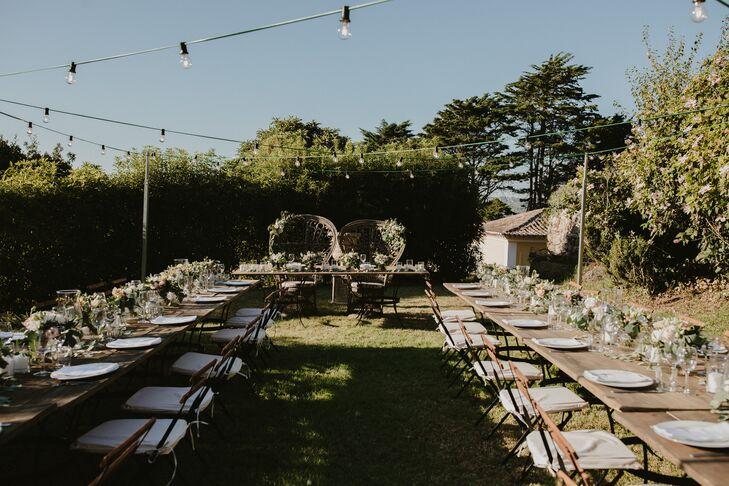 Rustic Backyard Reception at Portuguese Villa