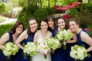 Navy Blue Bridesmaid Dresses