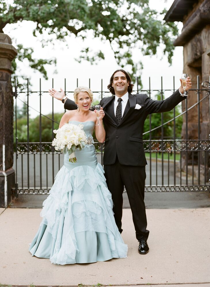 """Drawing inspiration from """"A Midsummer Night's Dream,"""" the wedding of Jennifer Stoltenberg (33 and a psychology doctoral intern) and Piran Farhadieh (3"""