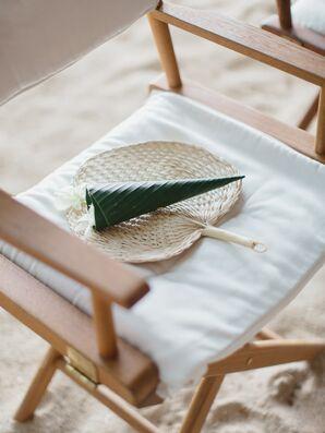 Woven Palm Hand Fan