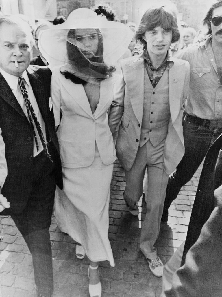 Bianca Jagger wedding day, Houghton wedding dress