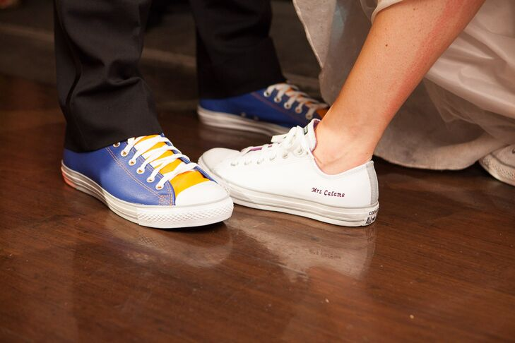 ee709f0f234f5 Customized Bride and Groom Converse Sneakers