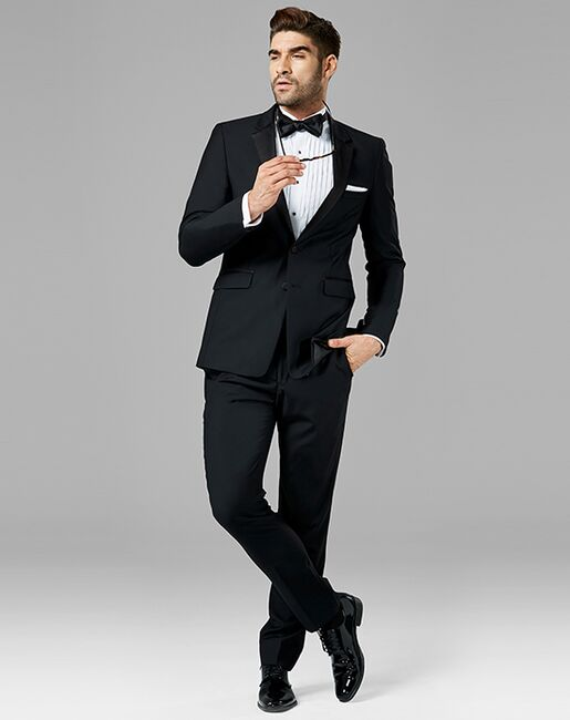 Generation Tux Black Notch Lapel Tuxedo Black Tuxedo