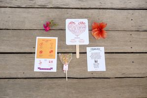 Fan Ceremony Programs and Lollipop Wedding Favors