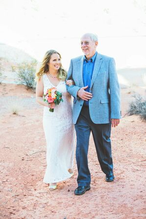 Desert Wedding Processional with Father of the Bride