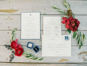 Wintry Invitation for Wedding at Terrain at Styers in Glen Mills, Pennsylvania