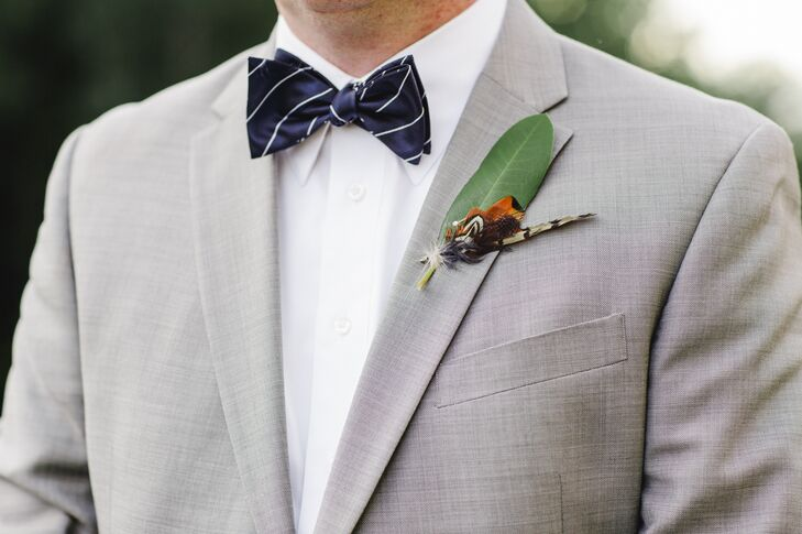 Green Leaf Boutonniere