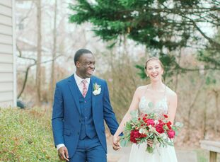 In honor of Althea's German heritage and Seyi's Nigerian background, the couple planned a multicultural wedding at The Estate at Independence in Midlo