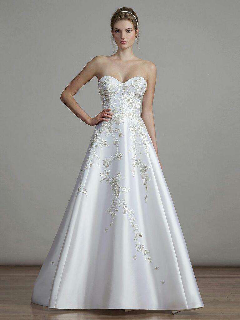 197b98b72d80 Liancarlo Spring 2018 satin strapless wedding dress with sweetheart neckline