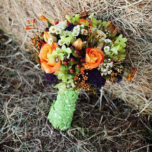 Orange and Green Bouquet