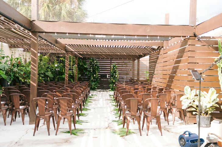 Outdoor Loft Ceremony at Fancy Free Nursery in Tampa, Florida