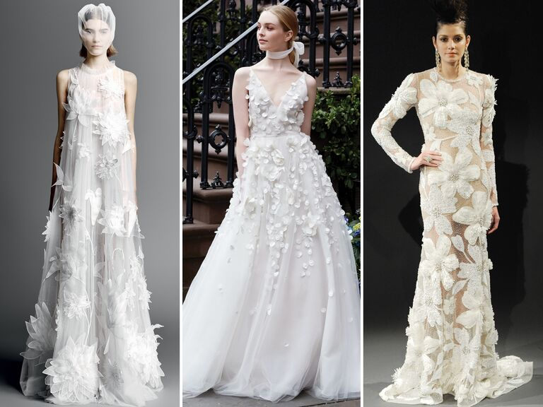 04063930f624 Top Wedding Dress Trends From Spring 2019 Bridal Fashion Week