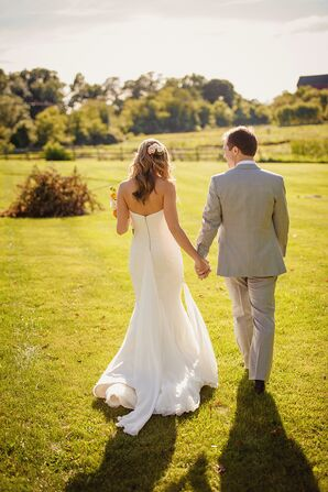 Bride and Groom at Misty Farm