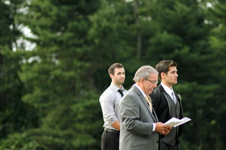 Groom and Best Man at Galax Ceremony