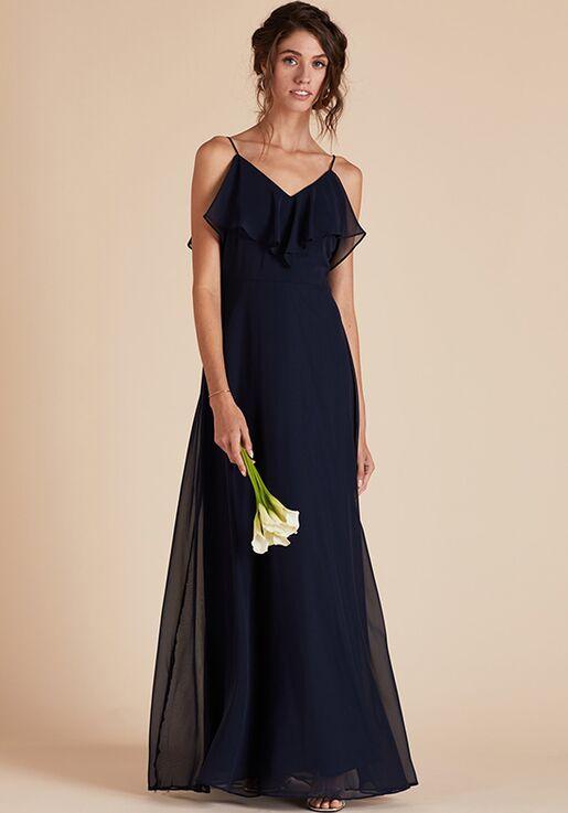 Birdy Grey Jane Convertible Dress in Navy V-Neck Bridesmaid Dress