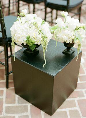 Hydrangea and Green Amaranthus Arrangements