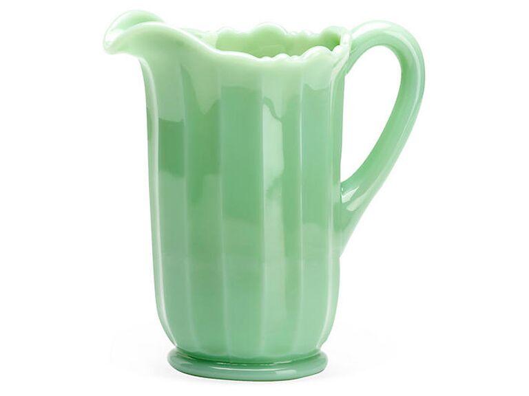 Jade glass panel pitcher