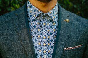 Ted Baker Patterned Shirt with Suit