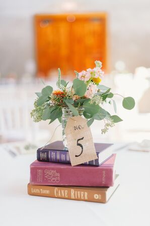 Vintage Book Centerpieces