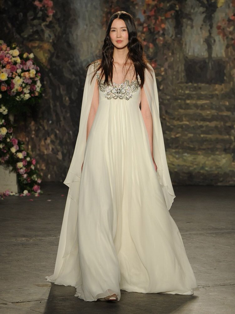 Jenny Packham Ethereal Wedding Dress With Cape And Embellished Bodice From Spring 2016