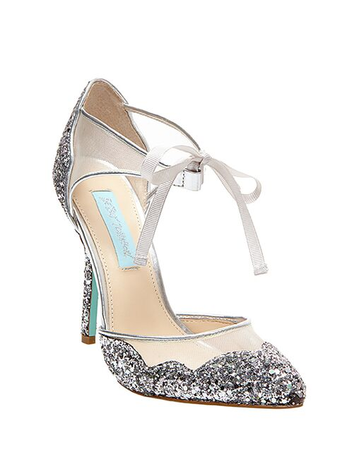 Blue by Betsey Johnson SB-STELA-silver Wedding Shoes - The Knot ac761ef78