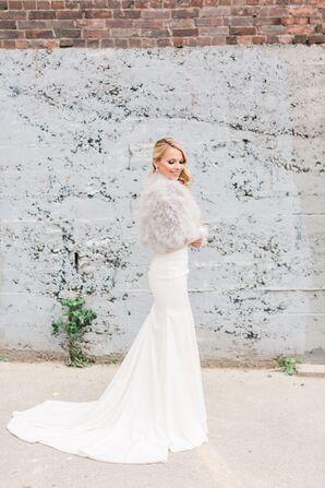 Simple, Elegant White Wedding Gown