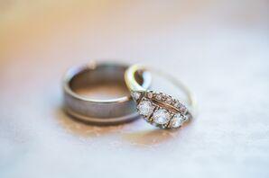 Three Round-Cut Diamond Engagement Ring