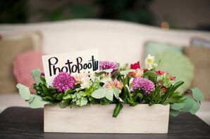 Chic Planter Box Centerpieces