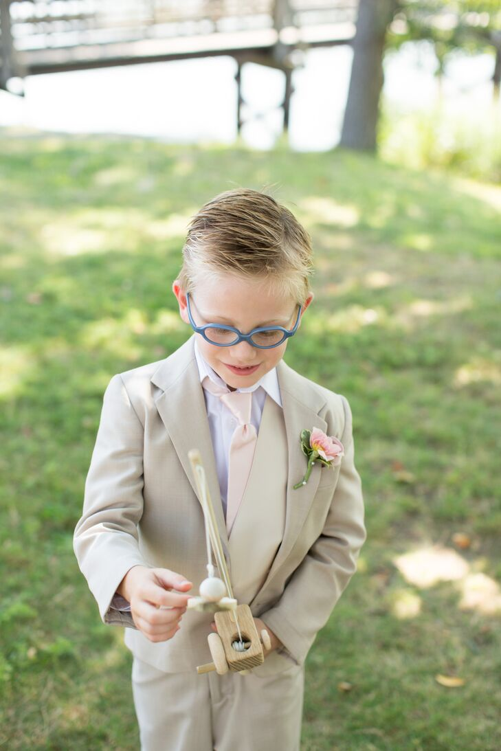 Neutral Three-Piece Ring Bearer Suit