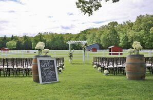 Rustic Second Chance Farm Ceremony Decor