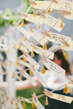 Tasseled Hand-Lettered Escort Cards