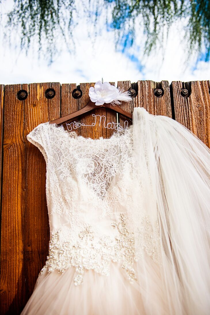 Lace Illusion Neckline Wedding Dress