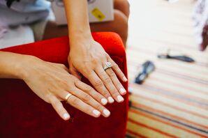 Solid White Manicured Fingernails