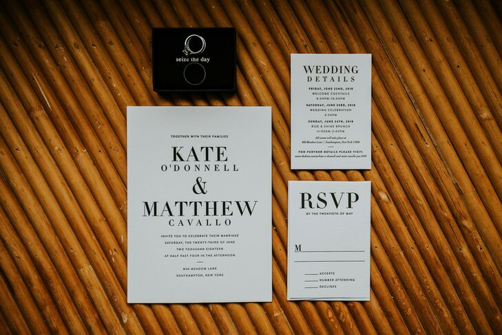 Modern Black-and-White Wedding Invitations