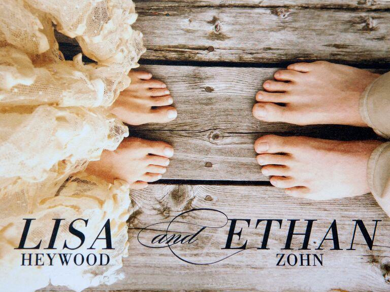 Ethan Zohn Lisa Heywood Save-the-Date