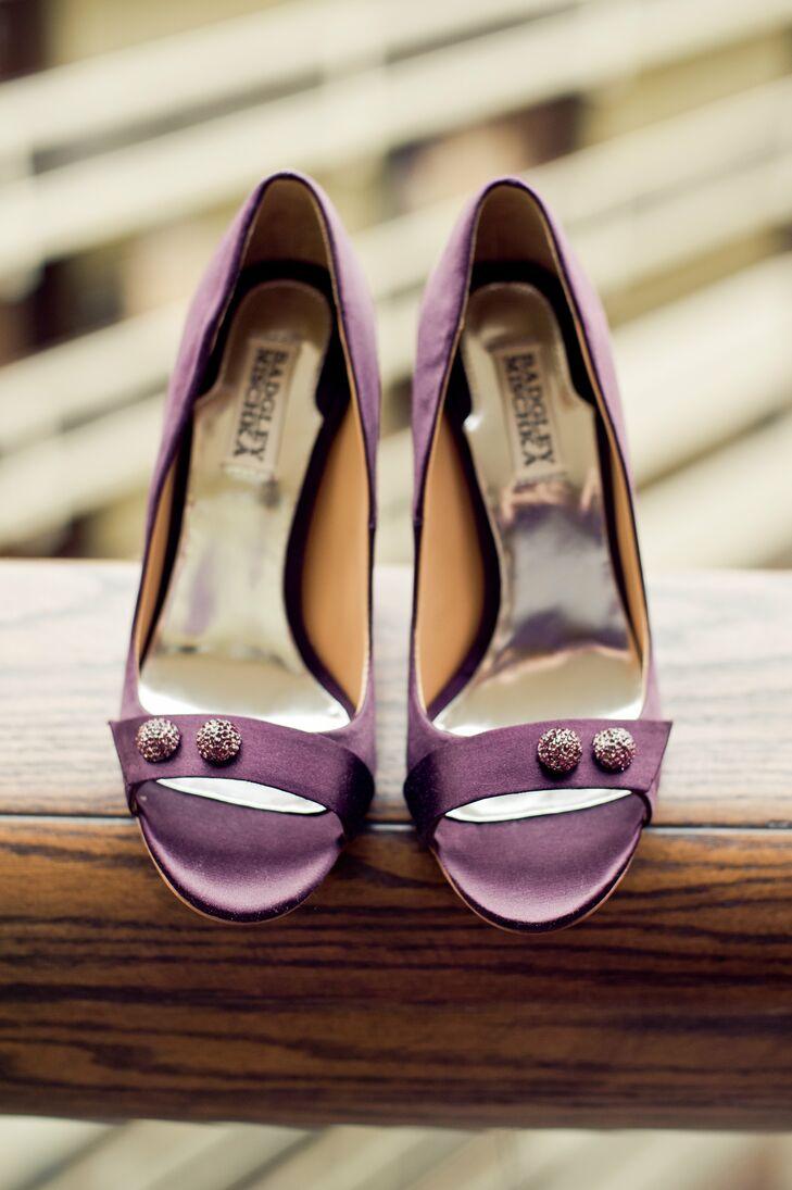 Light Purple Badgley Mischka Bridal Shoes