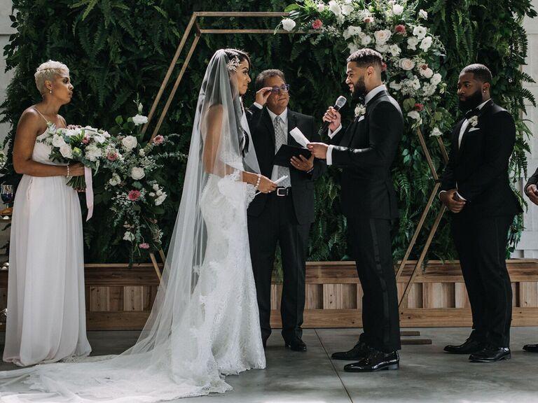 Wedding ceremony emotional wedding vows